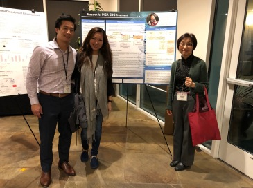 So glad we were able to meet Dr. Murakami. Purely coincidental she had a poster at the poster session right next to us. :)